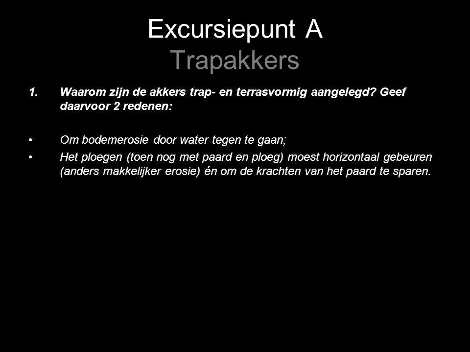 Excursiepunt A Trapakkers 1.Waarom zijn de akkers trap- en terrasvormig aangelegd.