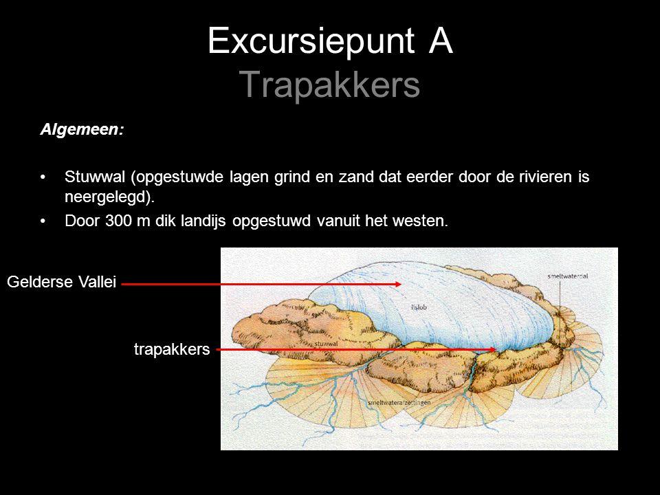 Excursiepunt A Trapakkers Algemeen: Stuwwal (opgestuwde lagen grind en zand dat eerder door de rivieren is neergelegd).
