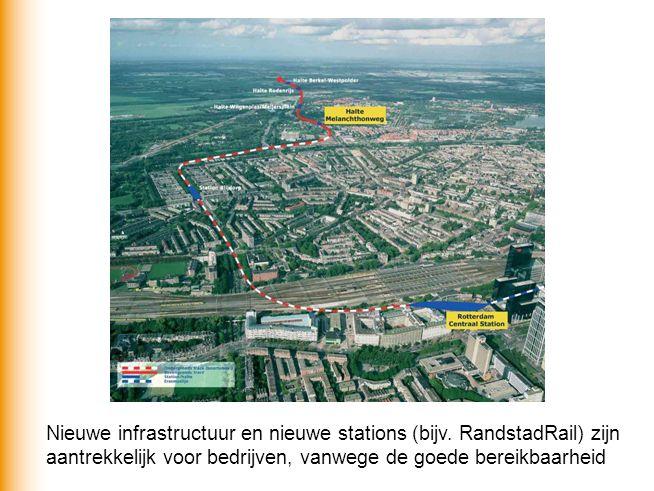Nieuwe infrastructuur en nieuwe stations (bijv. RandstadRail) zijn aantrekkelijk voor bedrijven, vanwege de goede bereikbaarheid