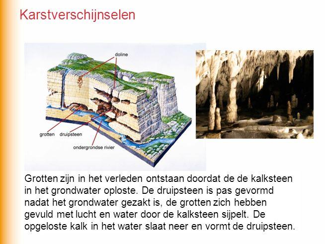Wat is eerder ontstaan, de grotten of de druipsteen? Grotten zijn in het verleden ontstaan doordat de de kalksteen in het grondwater oploste. De druip