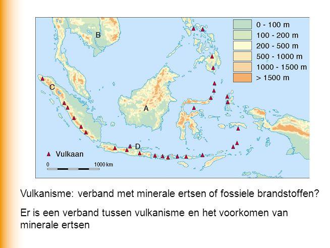 Vulkanisme: verband met minerale ertsen of fossiele brandstoffen? Er is een verband tussen vulkanisme en het voorkomen van minerale ertsen