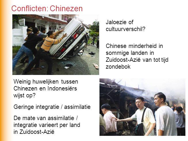 Jaloezie of cultuurverschil? Chinese minderheid in sommige landen in Zuidoost-Azië van tot tijd zondebok Weinig huwelijken tussen Chinezen en Indonesi