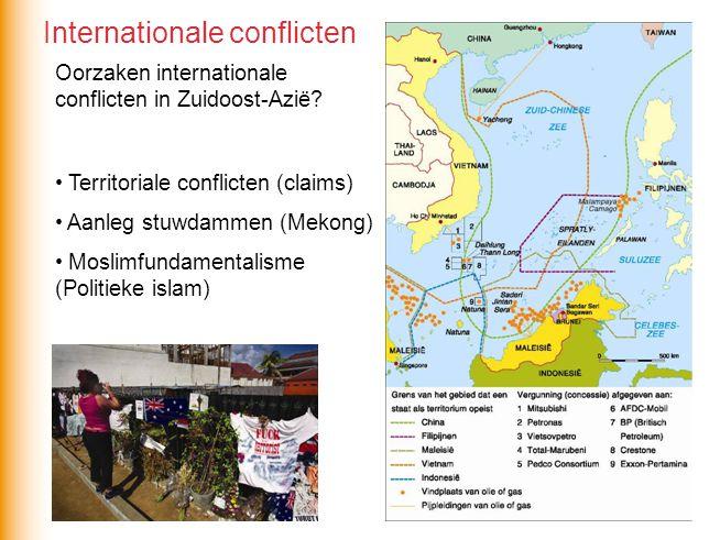 Oorzaken internationale conflicten in Zuidoost-Azië.