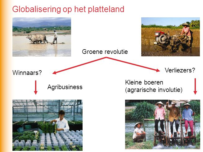 Groene revolutie Winnaars.Agribusiness Verliezers.