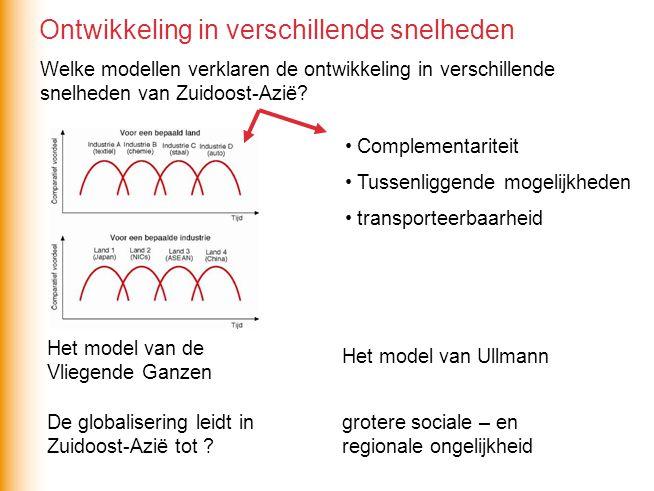 Welke modellen verklaren de ontwikkeling in verschillende snelheden van Zuidoost-Azië.
