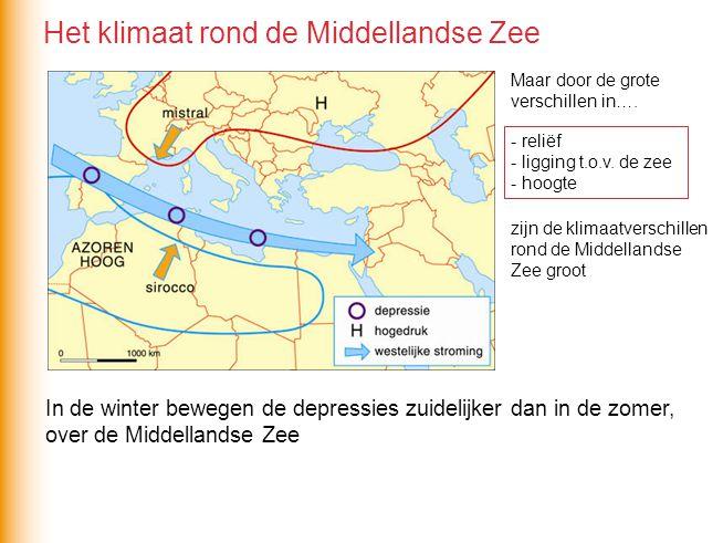 In de winter bewegen de depressies zuidelijker dan in de zomer, over de Middellandse Zee Maar door de grote verschillen in…. - zijn de klimaatverschil