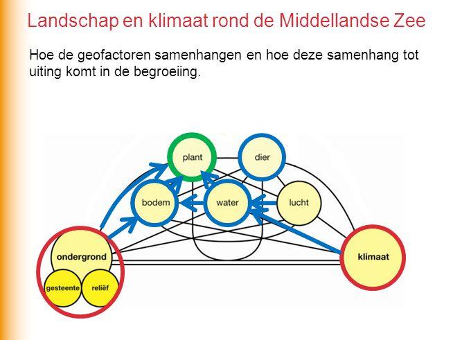 Hoe de geofactoren samenhangen en hoe deze samenhang tot uiting komt in de begroeiing.
