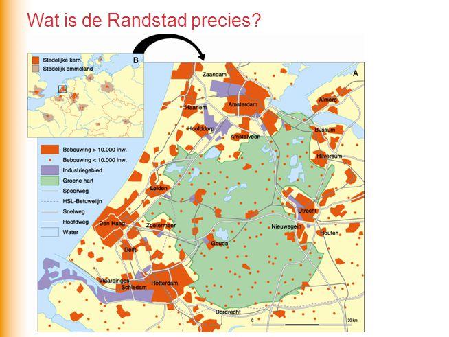 Wat is de structuur van de Randstad.