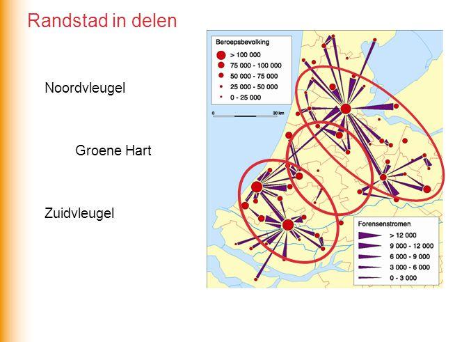 Noordvleugel Zuidvleugel Groene Hart Randstad in delen