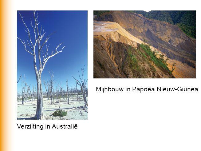 Verzilting in Australië Mijnbouw in Papoea Nieuw-Guinea