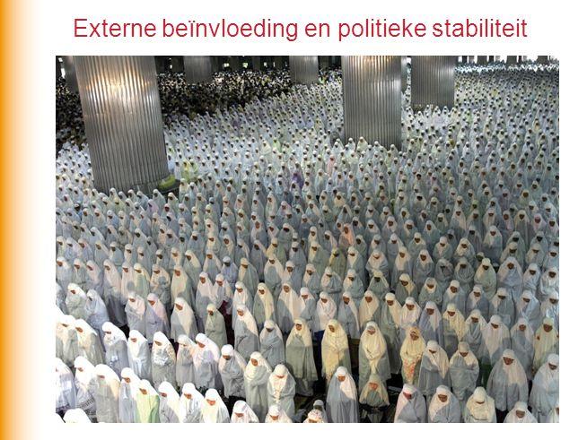 Economische beïnvloeding - Vrijhandel - Ruimtelijke afwenteling Politieke beïnvloeding - Parlementaire democratie - Politieke islam De ASEAN: een poging om zelf meer te sturen