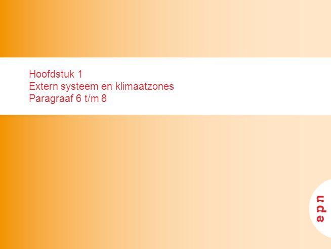 Hoofdstuk 1 Extern systeem en klimaatzones Paragraaf 6 t/m 8