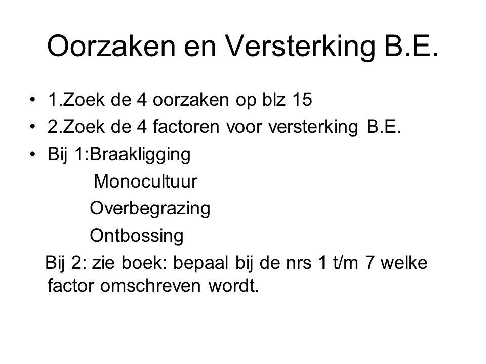 Oorzaken en Versterking B.E.