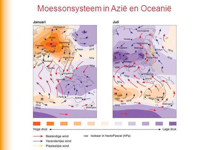 Moessonsysteem in Azië en Oceanië