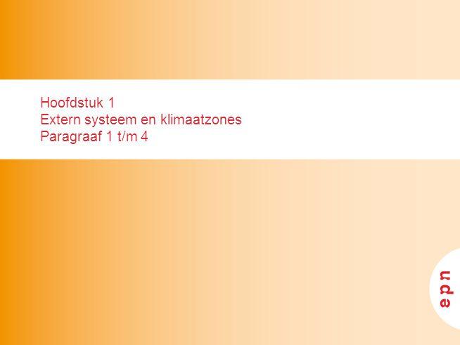 Hoofdstuk 1 Extern systeem en klimaatzones Paragraaf 1 t/m 4