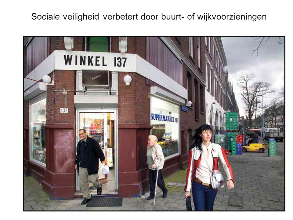 Sociale veiligheid verbetert door buurt- of wijkvoorzieningen