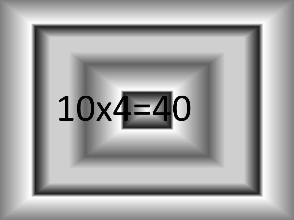 9x4=36