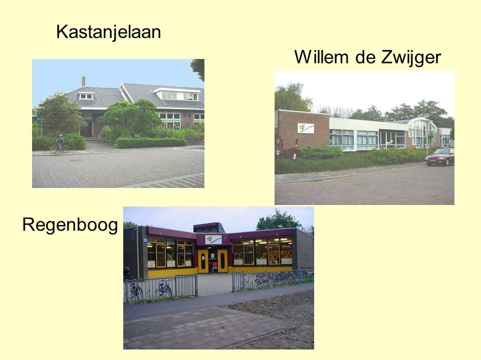 Herkenbaar Elke school voert hetzelfde logo Elke school heeft zijn eigen kleur Driemaster 't Bolwerk Willem de Zwijger Regenboog Kastanjelaan