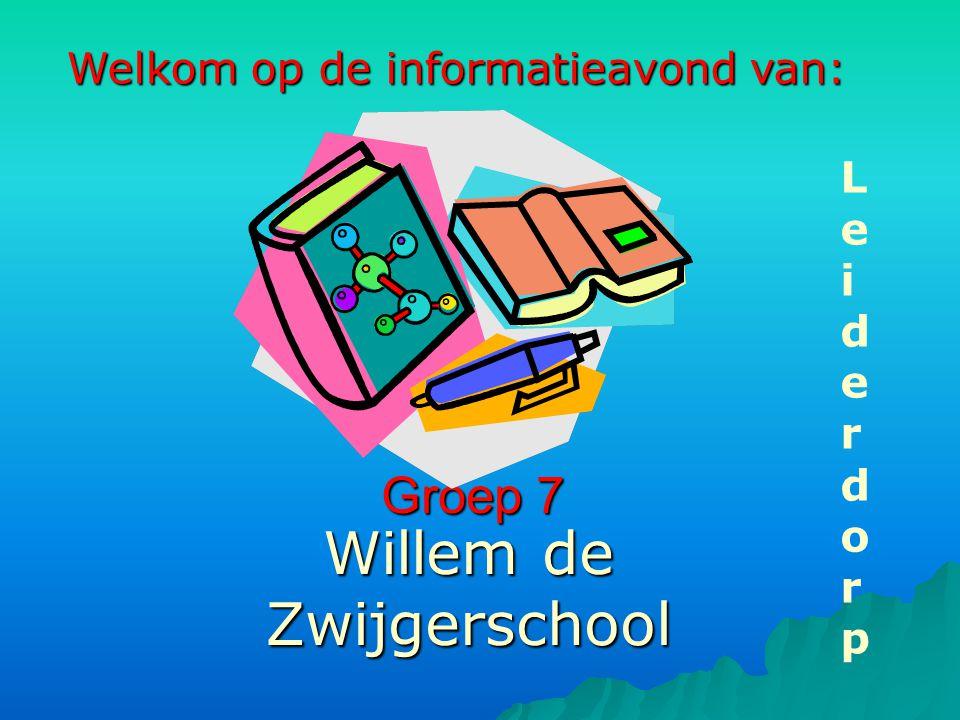 Groep 7 Willem de Zwijgerschool LeiderdorpLeiderdorp Welkom op de informatieavond van: