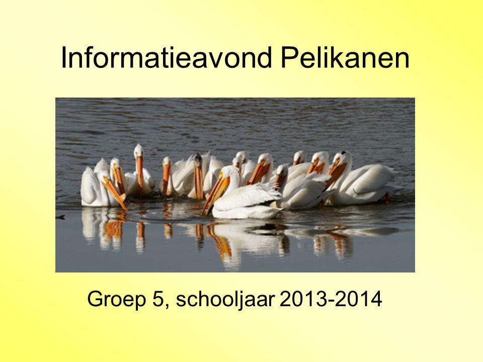 Informatieavond Pelikanen Groep 5, schooljaar 2013-2014