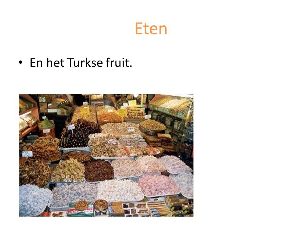 Eten En het Turkse fruit.