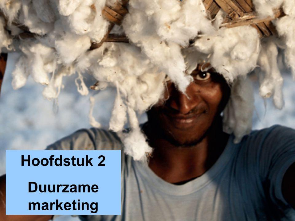 Leerdoelen 1.Een definitie geven van het marketingconcept (in het kader van duurzaamheid), en de stappen in het marketingproces kort omschrijven.