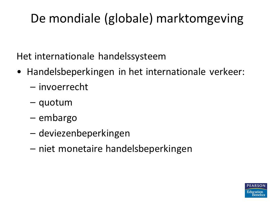 De mondiale (globale) marktomgeving De Wereldhandelsorganisatie en GATT De GATT is een internationaal verdrag dat de wereldhandel bevordert door invoerrechten en andere internationale handelsbeperkingen te verminderen De WTO is een overkoepelende organisatie, die toezicht houdt op GATT Principes van marketing – Hoofdstuk 20