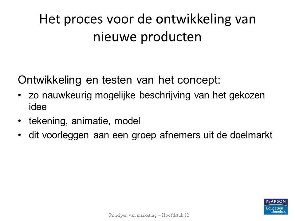 Principes van marketing – Hoofdstuk 12 Het proces voor de ontwikkeling van nieuwe producten