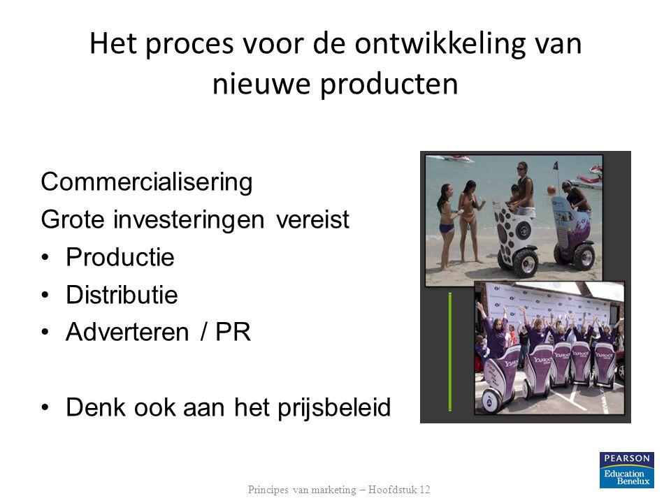 Het management van nieuwe productontwikkeling Klantgerichte ontwikkeling van nieuwe producten Teamaanpak van ontwikkeling van nieuwe producten Systematische ontwikkeling van nieuwe producten Principes van marketing – Hoofdstuk 12