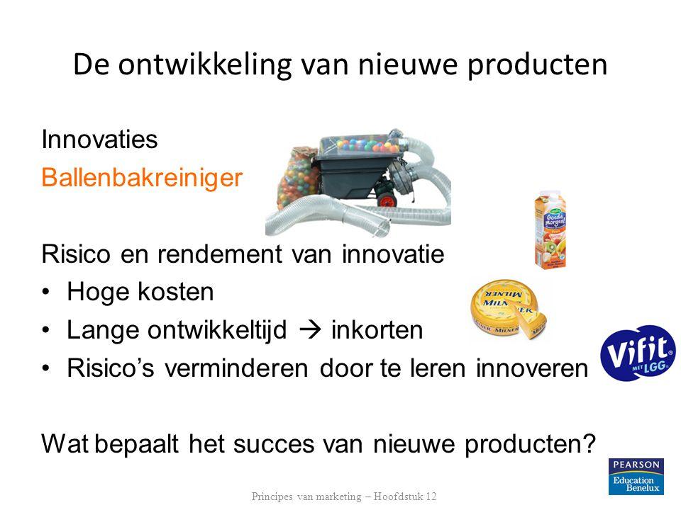 Het proces voor de ontwikkeling van nieuwe producten Wat bepaalt het succes van nieuwe producten.