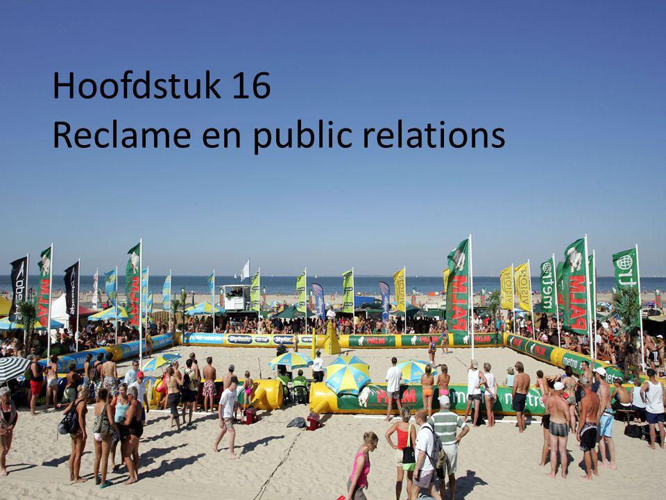 Hoofdstuk 16 Reclame en public relations