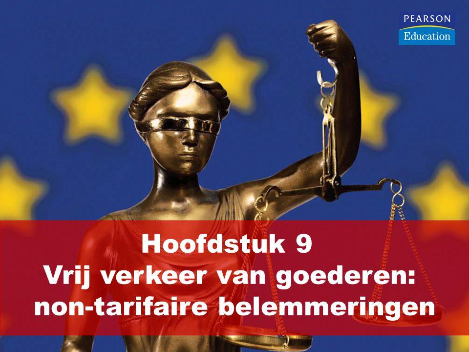 Artikel 34 VWEU verbiedt: Kwantitatieve invoerbeperkingen tussen lidstaten Alle maatregelen van gelijke werking