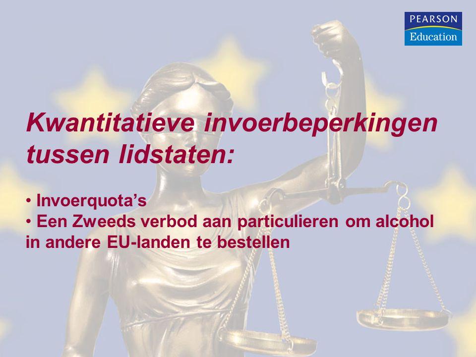 Kwantitatieve invoerbeperkingen tussen lidstaten: Invoerquota's Een Zweeds verbod aan particulieren om alcohol in andere EU-landen te bestellen