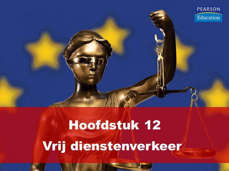 Artikel 56, alinea 1, VWEU garandeert het vrije dienstenverkeer: 'In het kader van de volgende bepalingen zijn de beperkingen op het vrij verrichten van diensten binnen de Unie verboden ten aanzien van de onderdanen der lidstaten die in een ander land zijn gevestigd dan dat, waarin degene is gevestigd te wiens behoeve de dienst wordt verricht.'