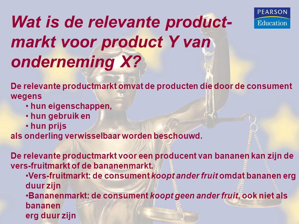 Wat is de relevante product- markt voor product Y van onderneming X? De relevante productmarkt omvat de producten die door de consument wegens hun eig