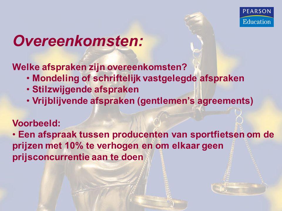 Overeenkomsten: Welke afspraken zijn overeenkomsten? Mondeling of schriftelijk vastgelegde afspraken Stilzwijgende afspraken Vrijblijvende afspraken (
