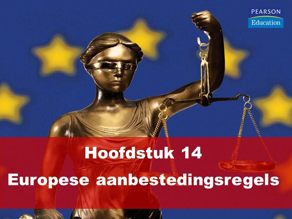 Hoofdstuk 14 Europese aanbestedingsregels