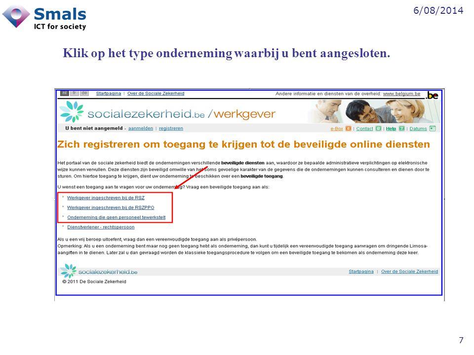 6/08/2014 8 Klik op Een verantwoordelijke toegangen entiteit aanstellen .