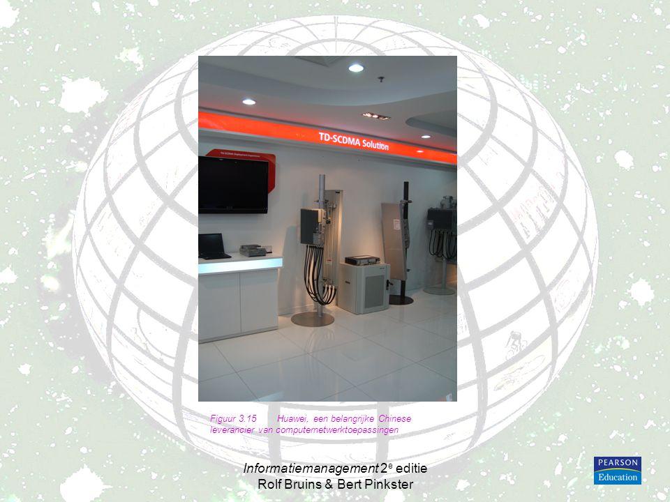 Informatiemanagement 2 e editie Rolf Bruins & Bert Pinkster Figuur 3.15Huawei, een belangrijke Chinese leverancier van computernetwerktoepassingen