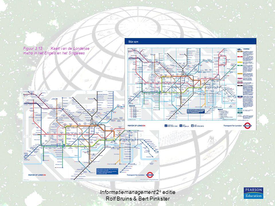 Informatiemanagement 2 e editie Rolf Bruins & Bert Pinkster Figuur 3.13Kaart van de Londense metro in het Engels en het Singalees
