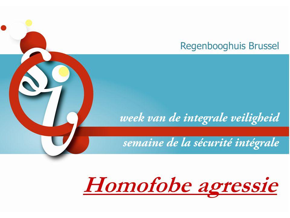Homofobe agressie Regenbooghuis Brussel