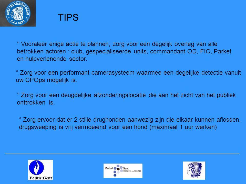 TIPS ° Zorg voor een performant camerasysteem waarmee een degelijke detectie vanuit uw CPOps mogelijk is.