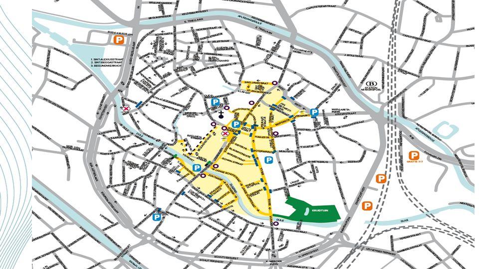 Samen bijdragen tot een veilige en leefbare stad Werkwijze autoluw gebied (whitelist) Passerende voertuigen worden permanent gescand t.o.v.