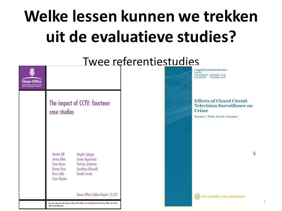 Welke lessen kunnen we trekken uit de evaluatieve studies Twee referentiestudies 10