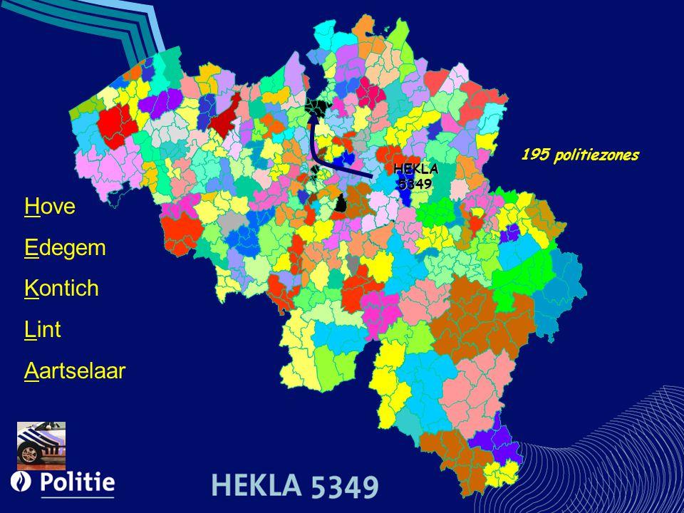 195 politiezones HEKLA5349 Hove Edegem Kontich Lint Aartselaar