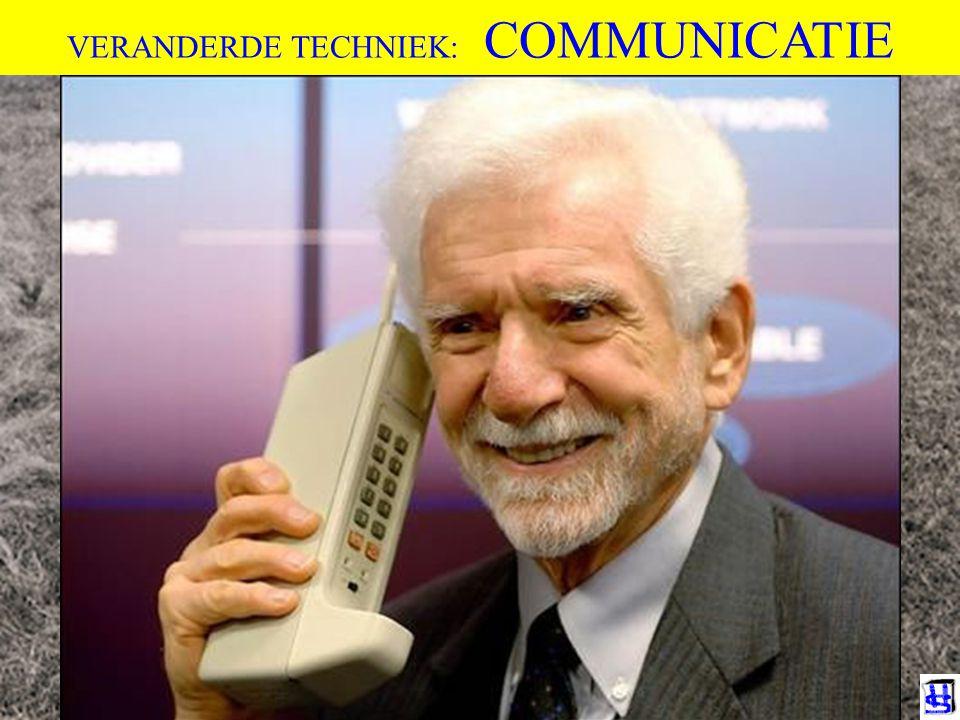 VERANDERDE TECHNIEK: COMMUNICATIE De evolutie van het leven op aarde wordt al 3 miljard jaar bepaald door 2 fysieke factoren: 1)Fysieke nabijheid (nod