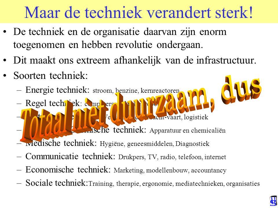 Maar de techniek verandert sterk! De techniek en de organisatie daarvan zijn enorm toegenomen en hebben revolutie ondergaan. Dit maakt ons extreem afh