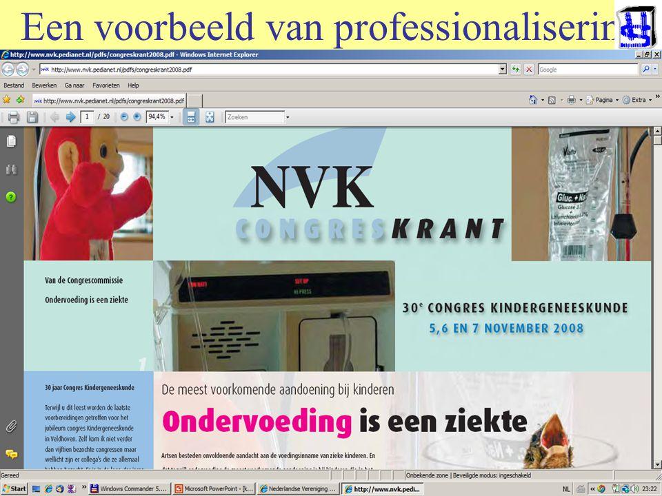 © 2006 JP van de Sande RuG Een voorbeeld van professionalisering Ondervoed in het ziekenhuis. Verwaarloosd probleem: 1.Aandacht, alert ziekenhuisbelei