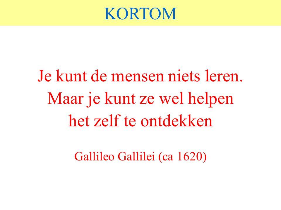 © 2006 JP van de Sande RuG KORTOM Je kunt de mensen niets leren.