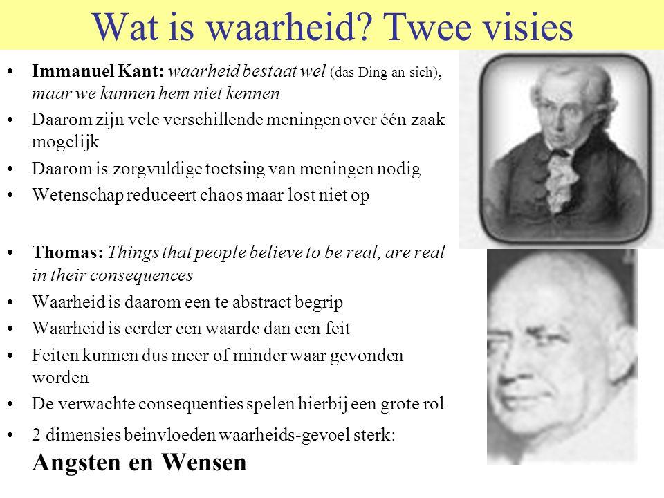 © 2011 JP van de Sande RuG Wat is waarheid? Twee visies Immanuel Kant: waarheid bestaat wel (das Ding an sich), maar we kunnen hem niet kennen Daarom